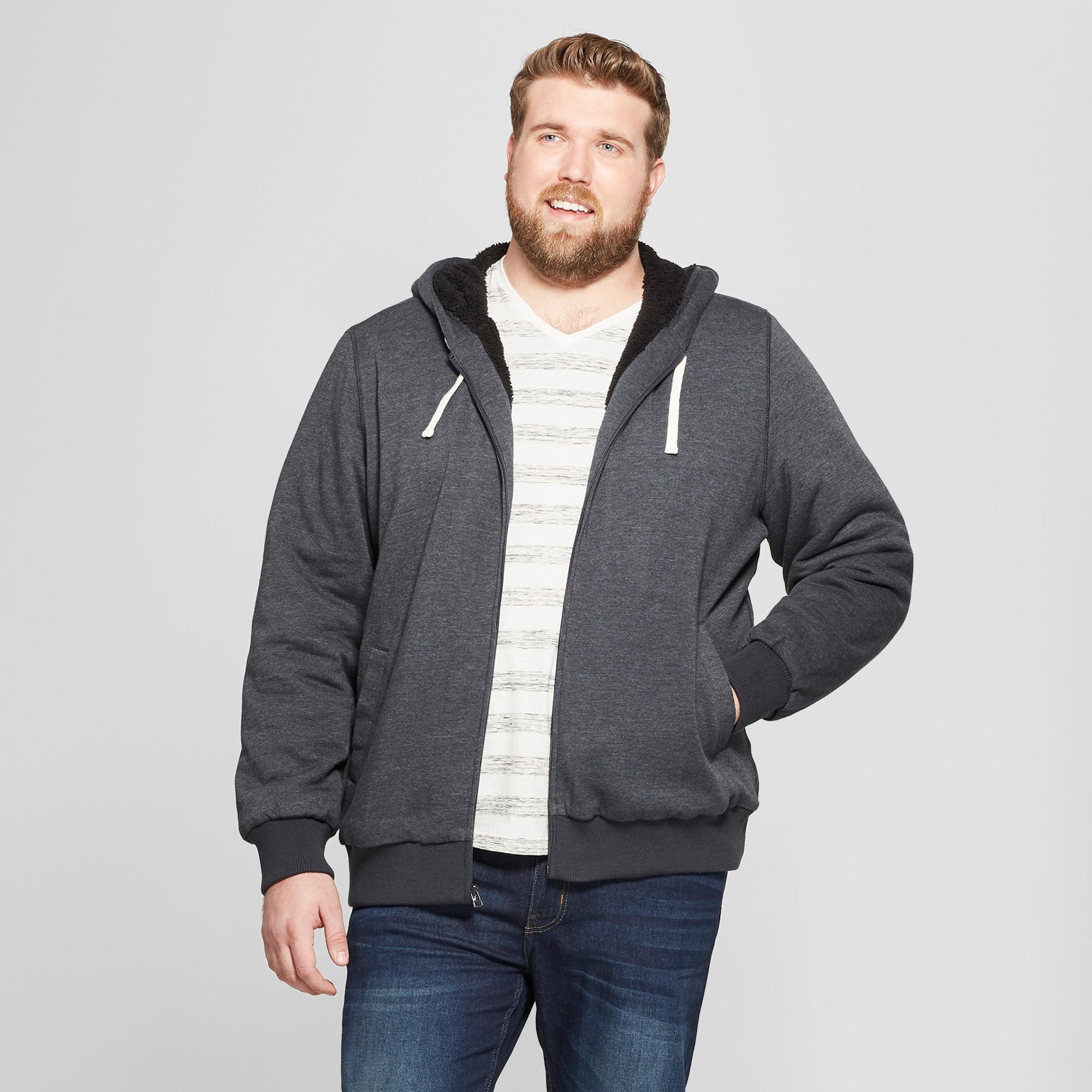Men's Big & Tall Sherpa Fleece Jacket Goodfellow & Co