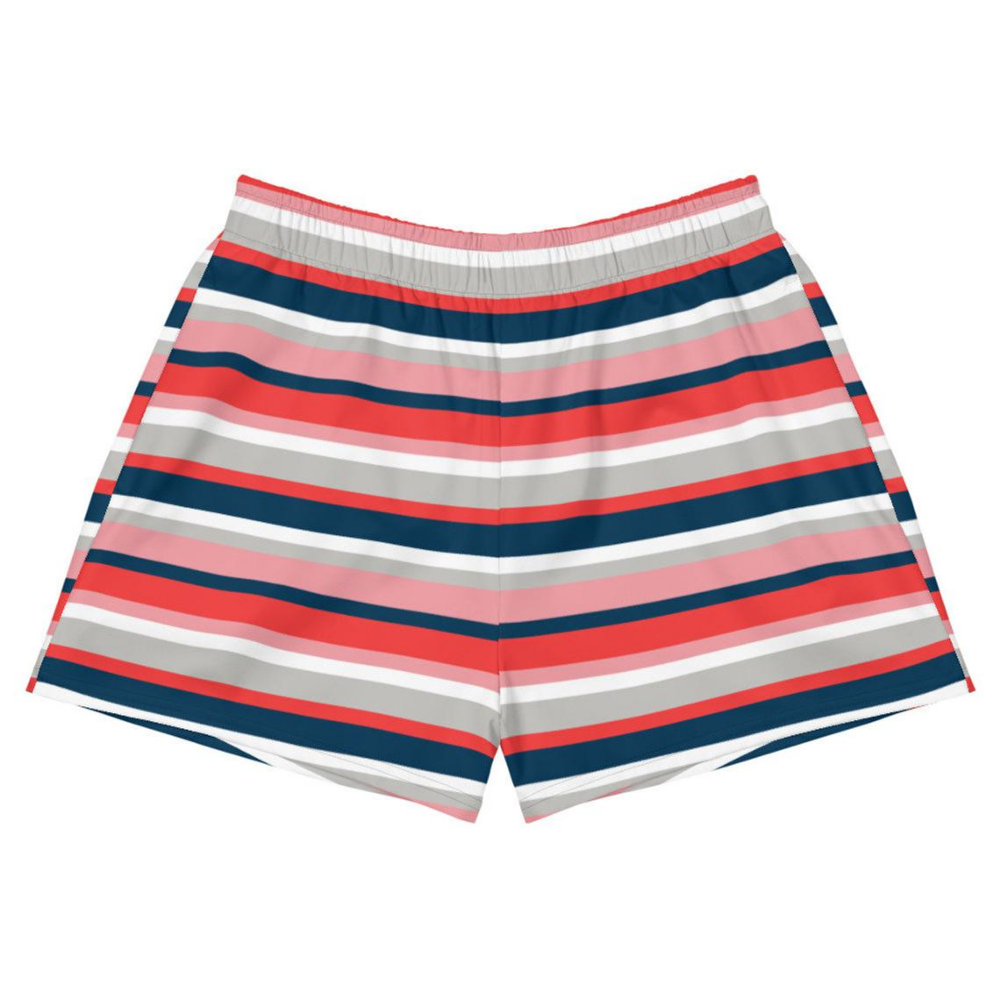 Striped shorts Womens shorts Sports athletic shorts Yoga | Etsy