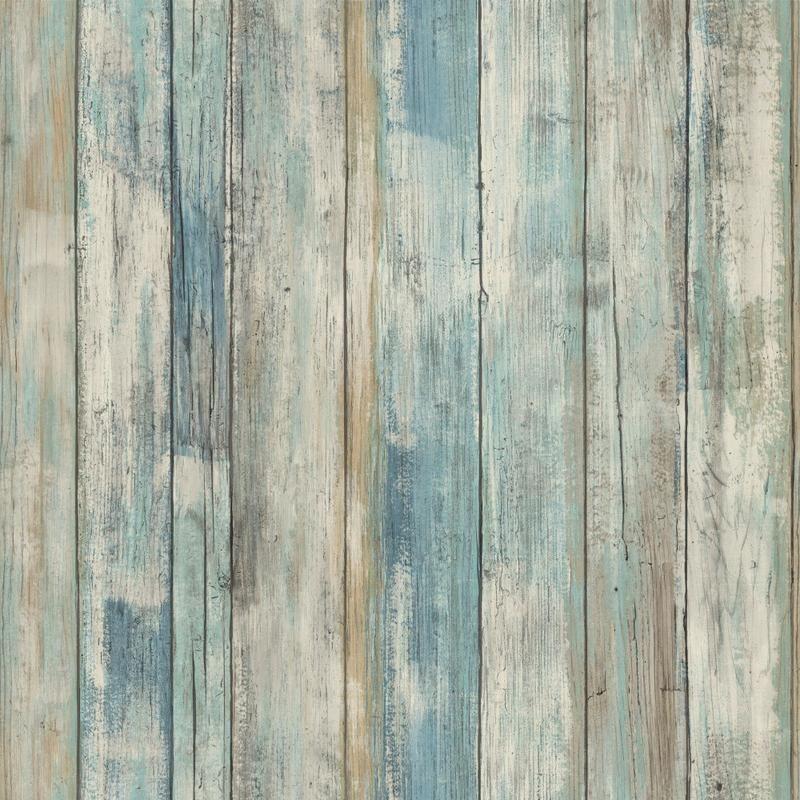Blue Distressed Barnwood Plank Wood Peel And Stick Wallpaper How To Distress Wood Wood Wallpaper Wood Plank Texture