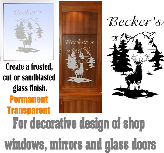 Pineapple Etched Glass Welcome Front Door Decor Vinyl Decal - Office depot window decals instructions