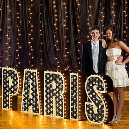 tres chic paris letter set paris theme party decorations france standee ebay 40 birthday. Black Bedroom Furniture Sets. Home Design Ideas