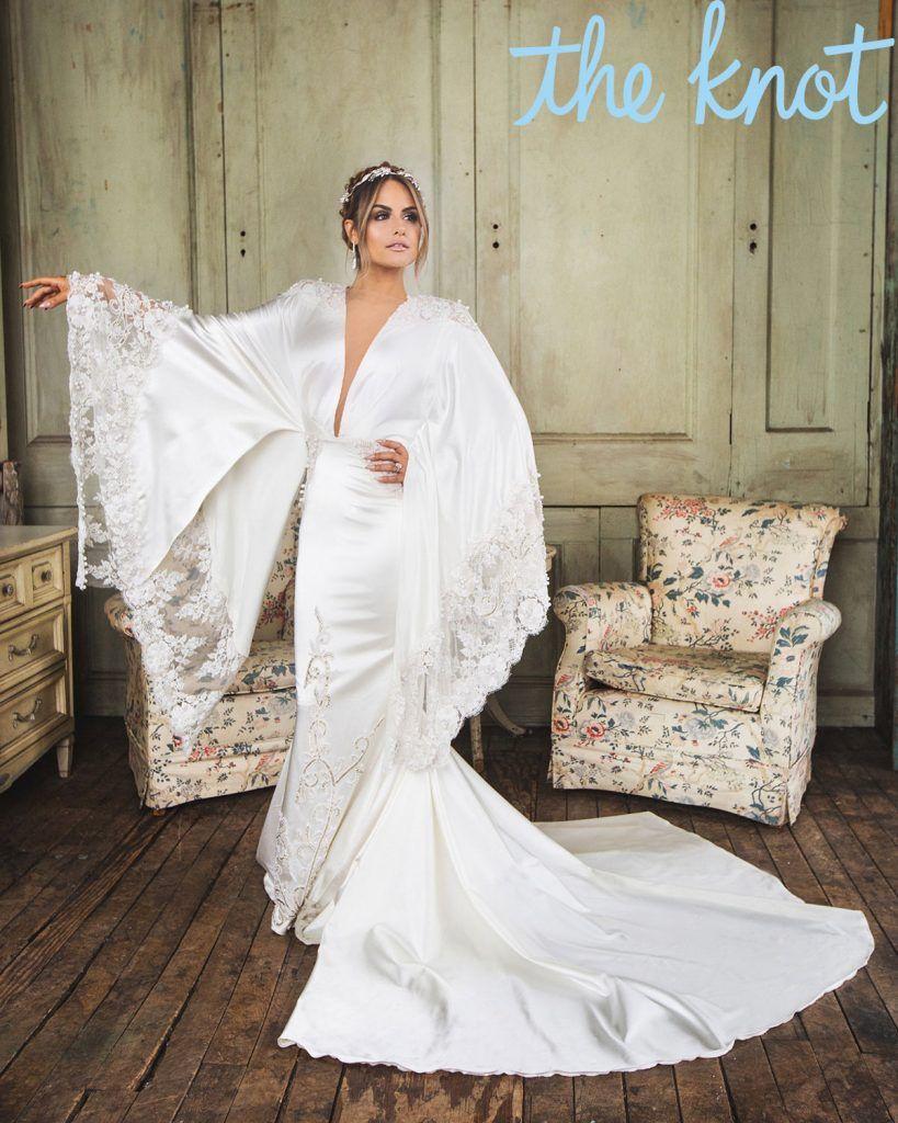 Pia Toscano Shares Her Wedding Album Exclusive Celebrity Wedding Dresses Silky Wedding Dress Designer Wedding Dresses