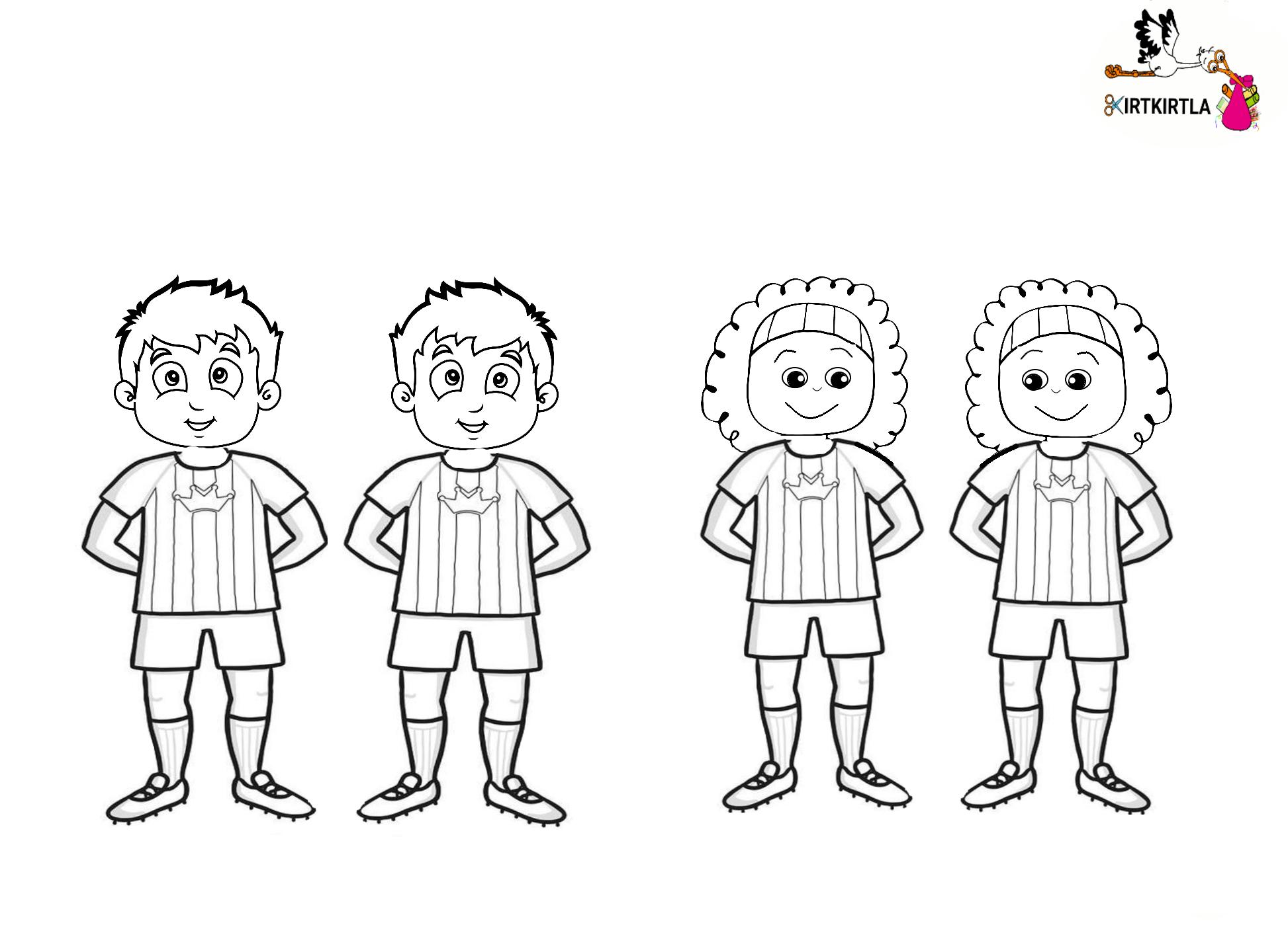 Futbol Etkinligi Boyama Sayfalari Sanat Futbol