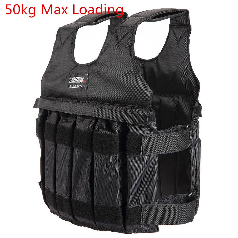 Yosoo Weight Vests Adjustable Weighted Vest Running Gym Training Running Jackets Workout Exercise Loss Weight Jackets Sand Loading Cloth Weights not Included