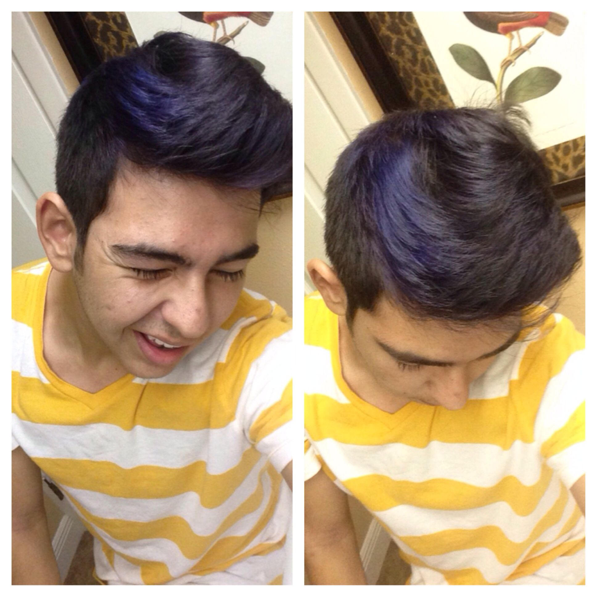 Blue Streak Men S Hair Mens Hairstyles Men Hair