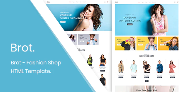 Brot Fashion Shop Html Template Is An Astounding Creation For Making Websites Selling Fashion Products Online Br Html Templates Templates Bootstrap Template