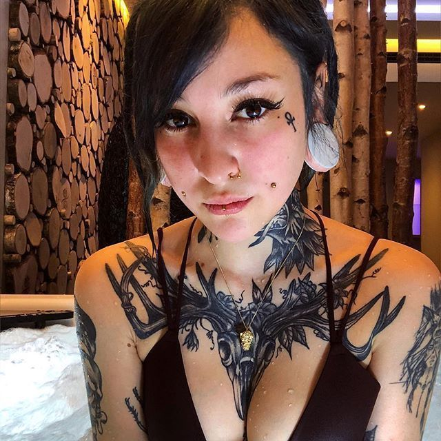 Meet the most beautiful Tattoo Models in the world  @theblxckwolf -  Meet the most beautiful Tattoo