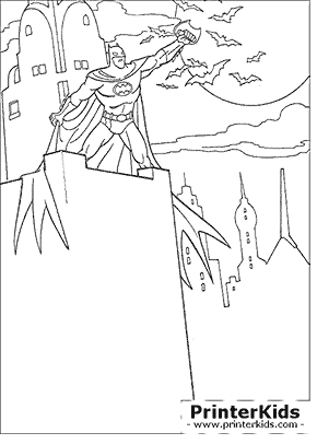 Bats In The Night Batman Coloring Page Preview Batman Coloring Pages Coloring Pages Coloring Pictures