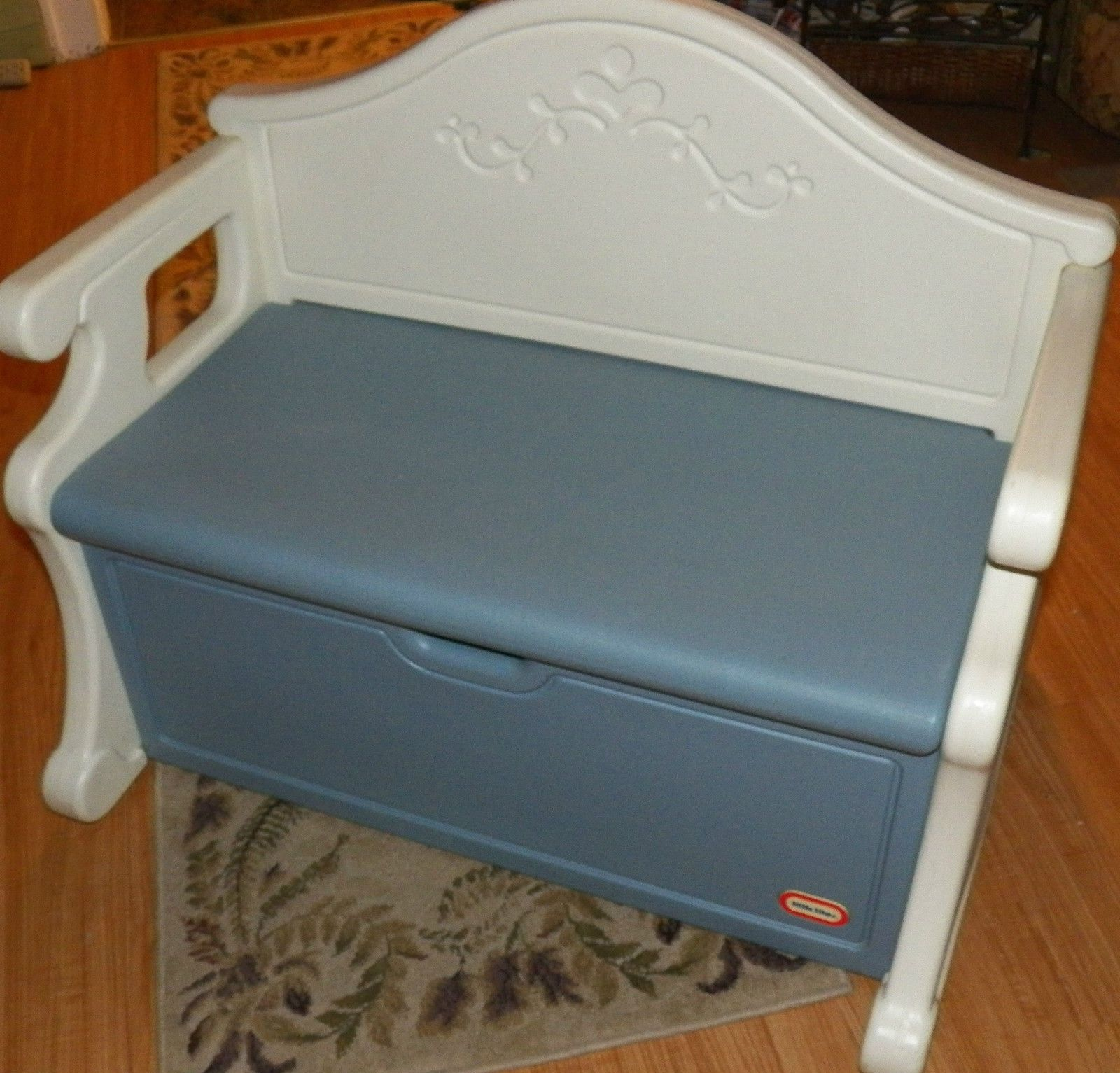 Little Tikes Victorian Table And Chairs Drop Leaf With Vintage Child Full Size Blue Bench