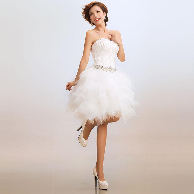 short wedding dresses with feathers | Dress | Pinterest | Models ...