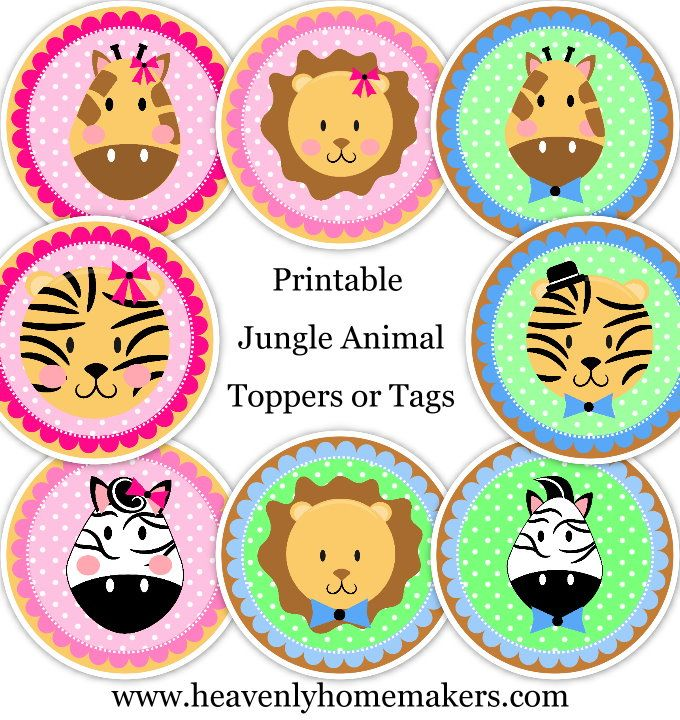 23 Great Muffin Recipes Free Printable Zoo Animals Muffin Toppers