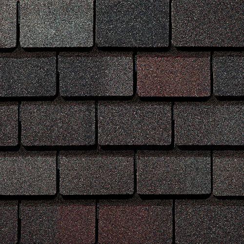 Sheffield Black Gaf Designer Roof Shingles Swatch Slate Shingles Shingling Roofing