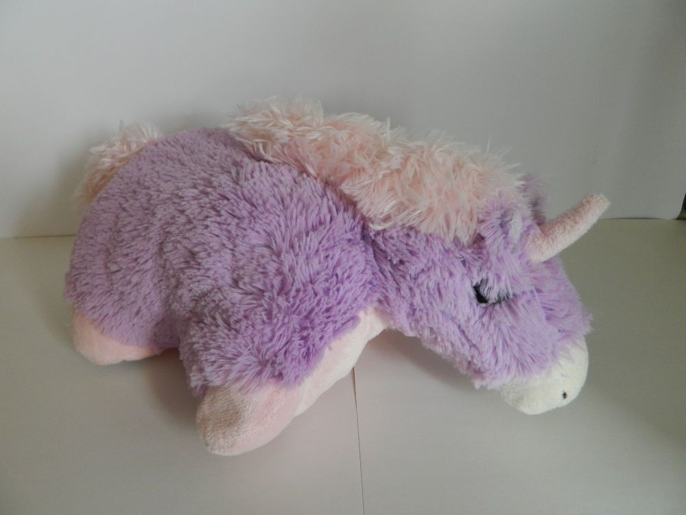 Mini Pillow Pets Pee Wees Unicorn Pink Purple Plush Stuffed Animal