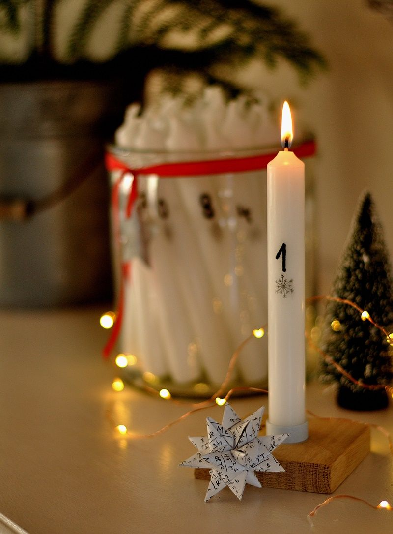 Adventskerzen Mit Zahlen Diy Advent Kerzen Adventskerzen Und