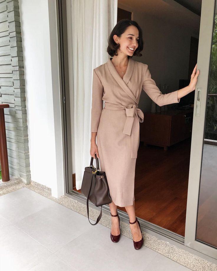Chic wrap dress   Dresses For Women Over 40   Pinterest   Wrap dresses,  Wraps and Woman