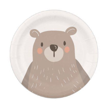 sc 1 st  Pinterest & Bear Paper Plates Baby shower Woodland animals