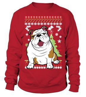 english bulldog christmas sweater teezily