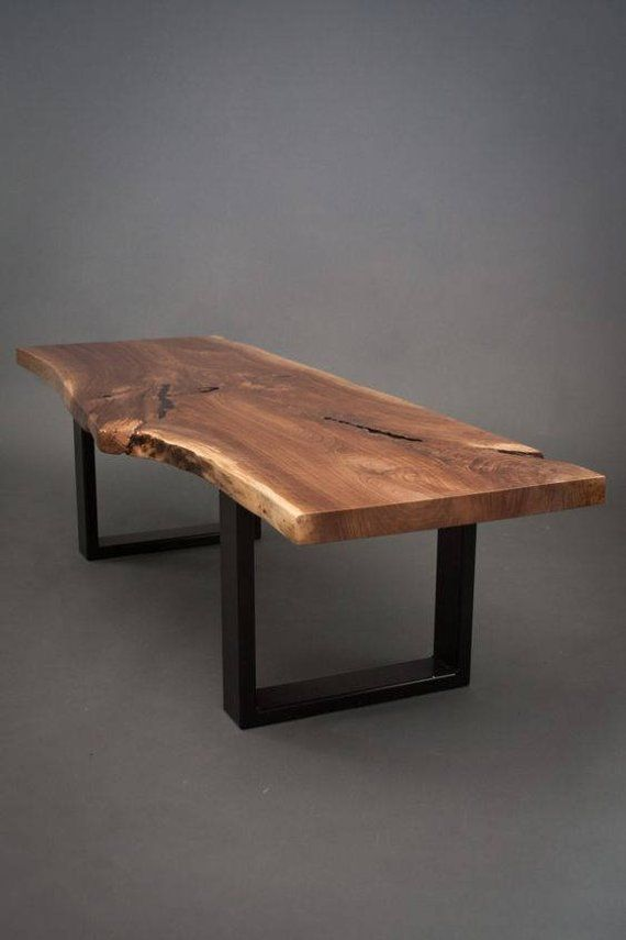 YOUR CUSTOM Black Walnut  Coffee Table-Size Medium – Live Edge – Slab Wood