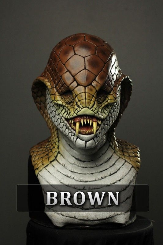 Professional Halloween Makeup Dallas: Cobra Silicone Mask