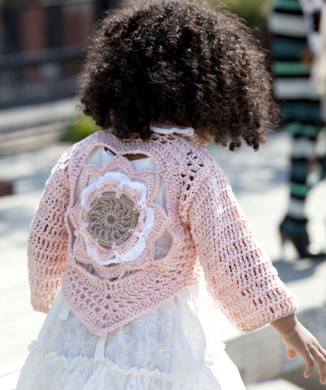 Flower Child\'s Sweater FREE pattern, just stunning. Love it, thanks ...