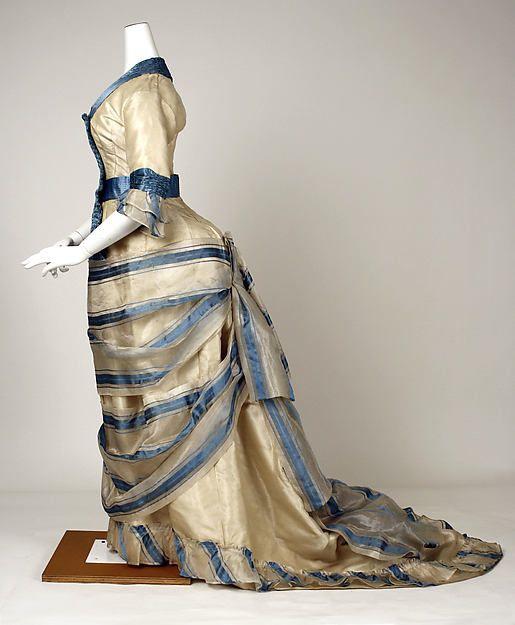 Dress Date: 1880 Culture: Swiss Medium: silk, pineapple fiber