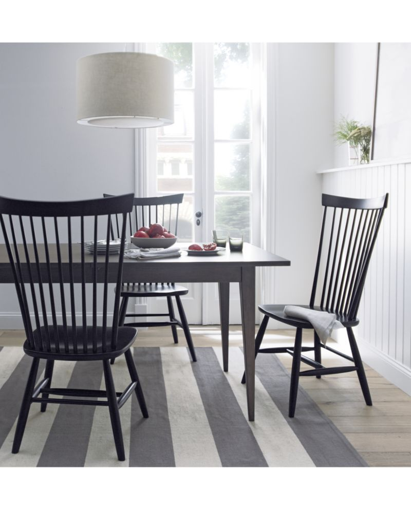 Marlow ii black wood dining chair crate and barrel black wood