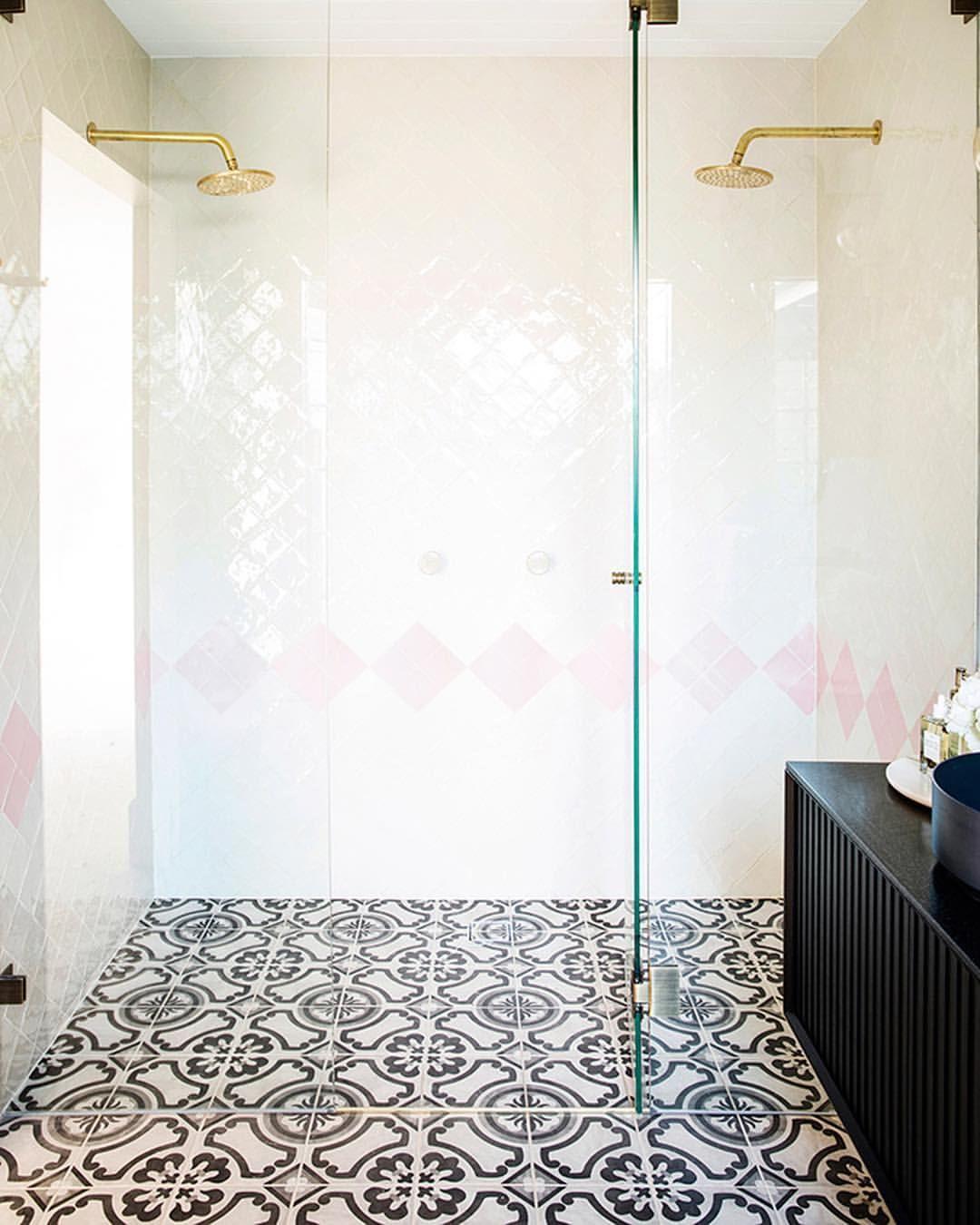Amber Tiles Kellyville Pinned From Instagram Threebirdsrenovations 100x100 Handmade Tiles In White Decor Interior Design Three Birds Renovations Home Decor