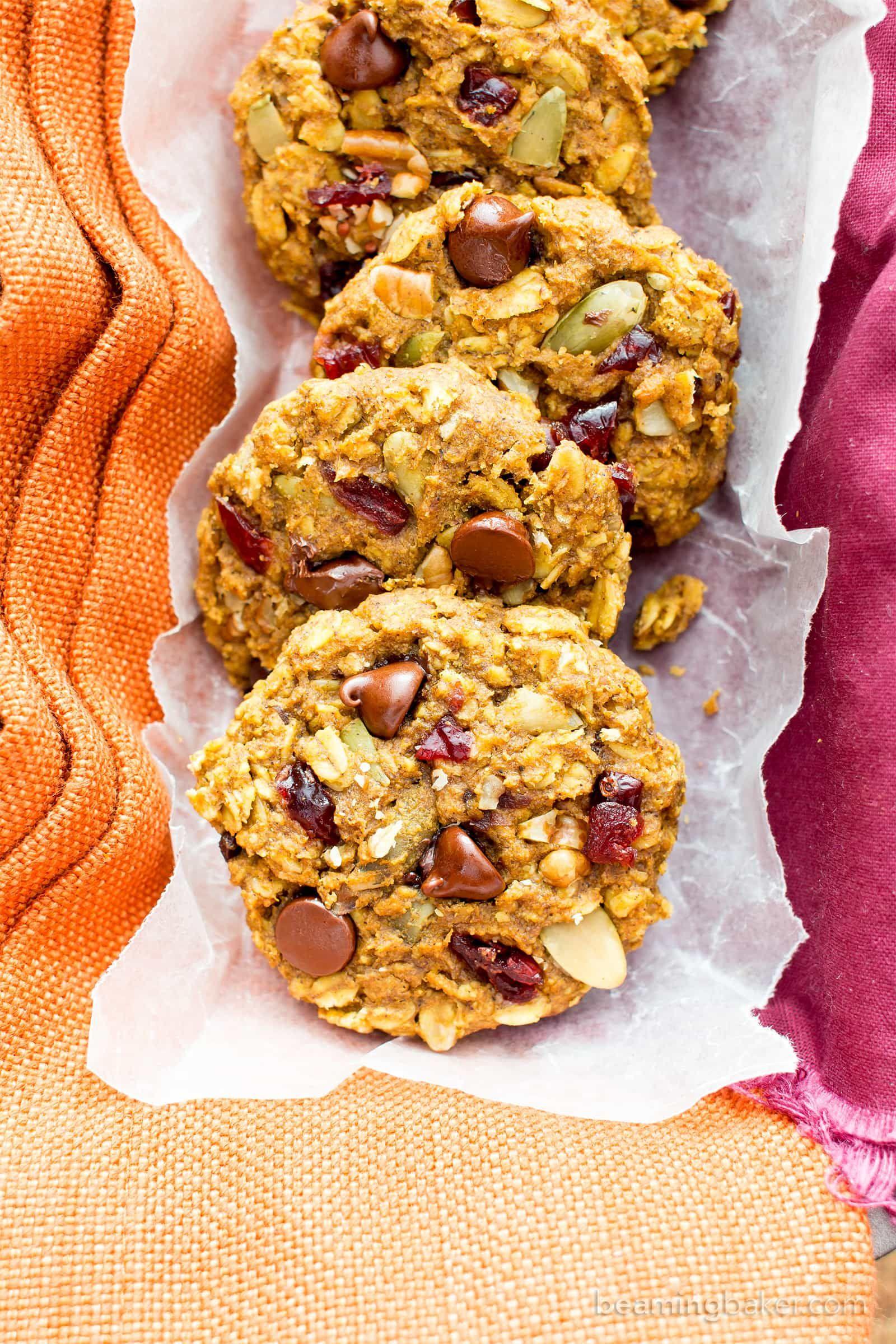 Pumpkin Chocolate Chip Oatmeal Breakfast Cookies V Gf Soft