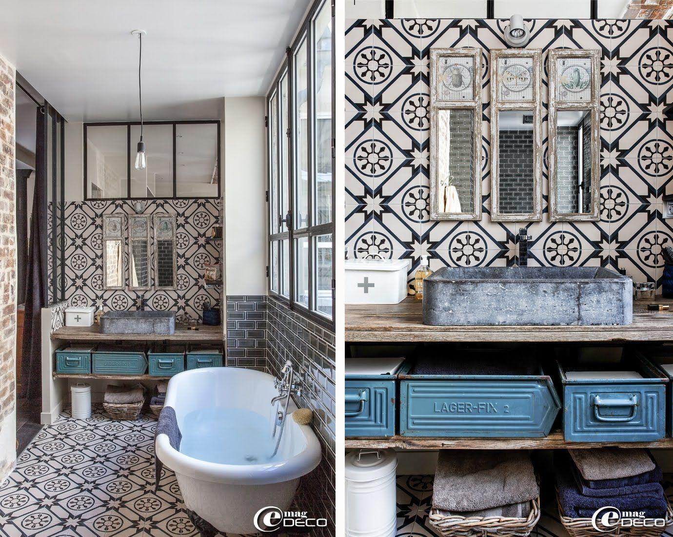 un loft parisien lov autour d 39 une cour e magdeco. Black Bedroom Furniture Sets. Home Design Ideas