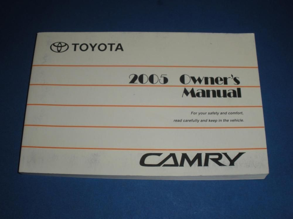 2005 Toyota Camry Owners Manual Book Guide