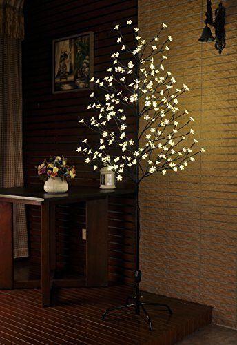 Christmas Tree 6 Feet 208 LED Lighting Party Holiday Garden Decor
