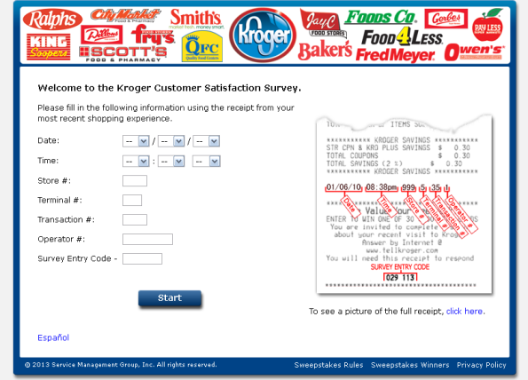 Take The Kroger Customer Satisfaction Survey To Talk About Your