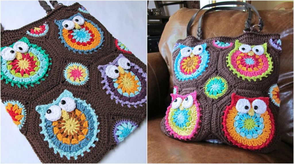 Awesome Crochet Owl Bag Free Pattern Crocheted Bags Purses