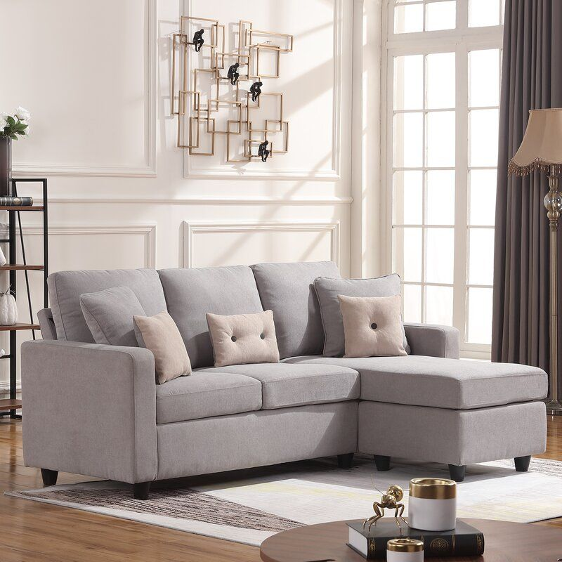 Sylvette 78 5 Reversible Sofa Chaise With Ottoman In 2020 Couches For Small Spaces Sofas For Small Spaces L Shaped Couch