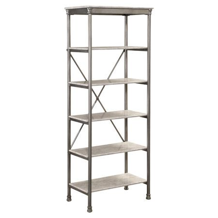 Perfect holding cookbooks in the kitchen or toiletries and towels in the master bath, this 5-tier display tower showcases a metallic finish and faux marble s...