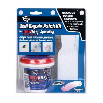 Dap Drydex 8 Oz Wall Repair Patch Kit 12345 The Home Depot