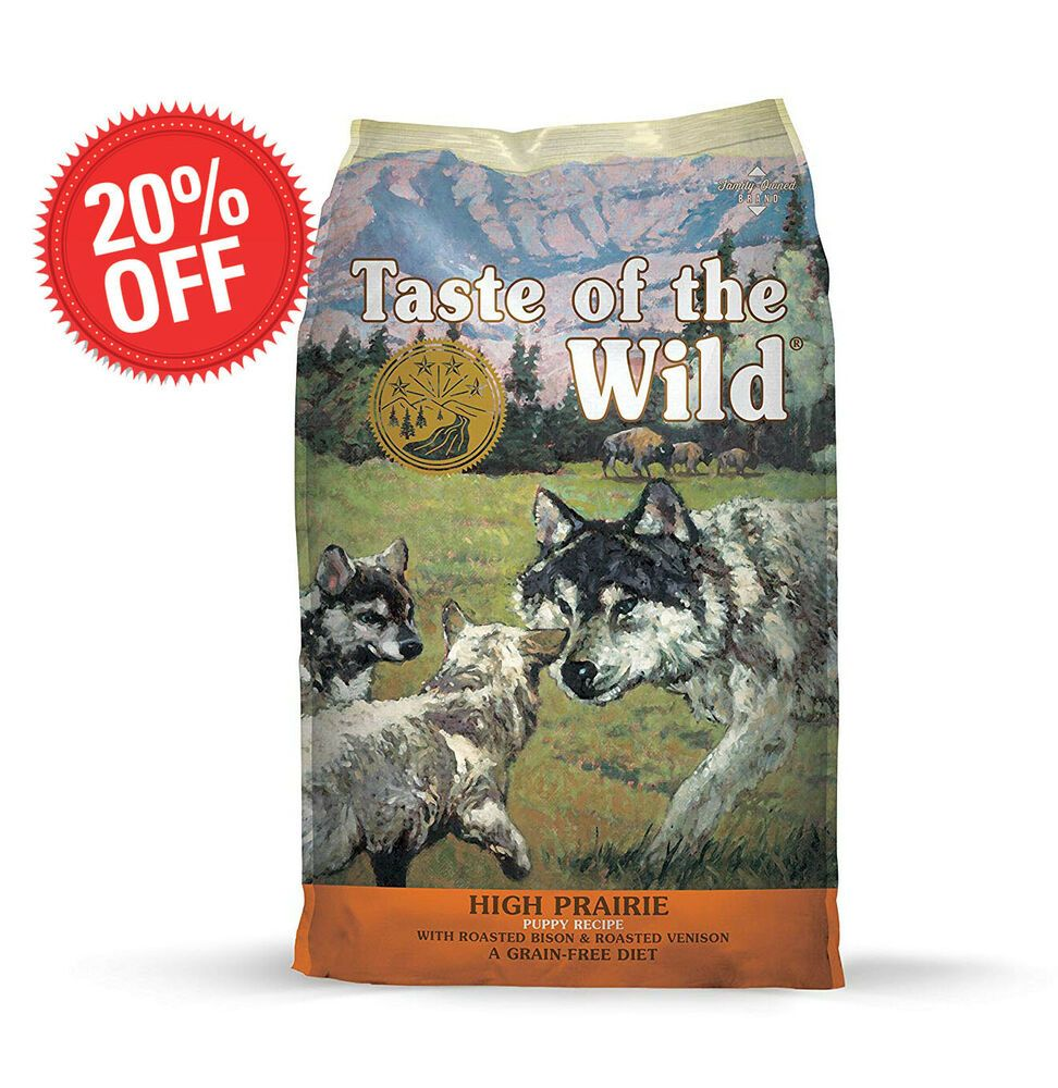 Taste Of The Wild High Prairie Puppy Formula Grain Free Dry Dog