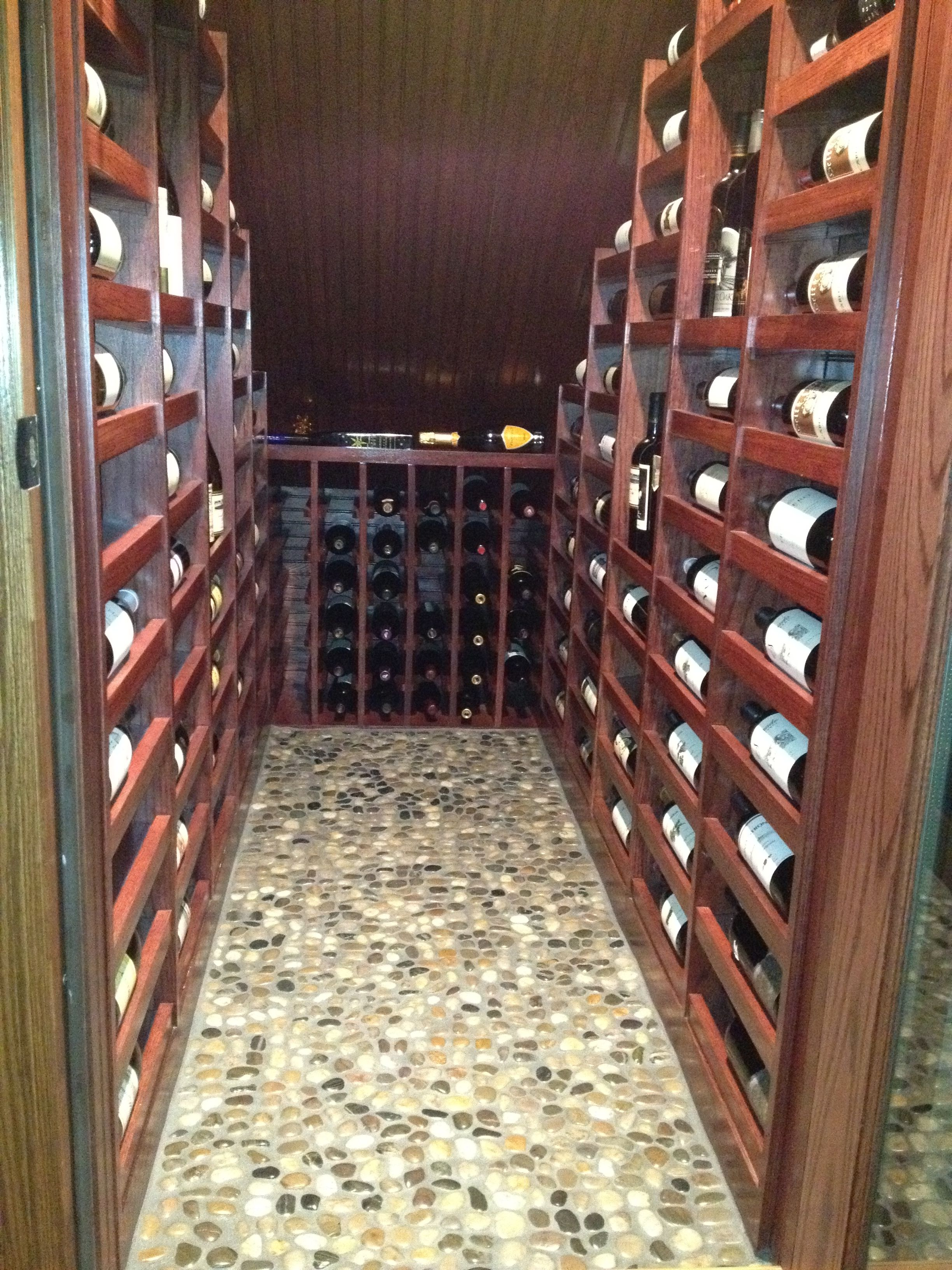Making Good Use Of That Area Under The Stairway Wine Cellar
