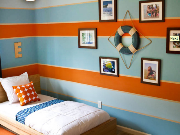 Love The Stripe Idea For Boys Sharing Rooms Use Red Green Blue
