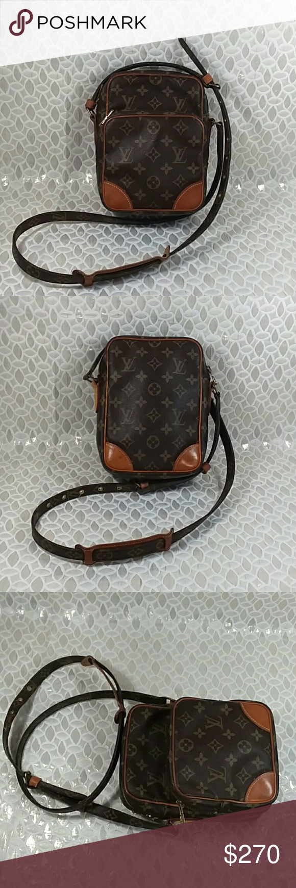 Auth Louis Vuitton Monogram Amazon Monogram Bag Louis Vuitton