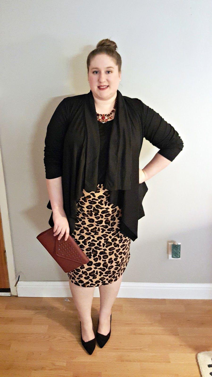 d960a0ea6ef plus size leopard pencil skirt