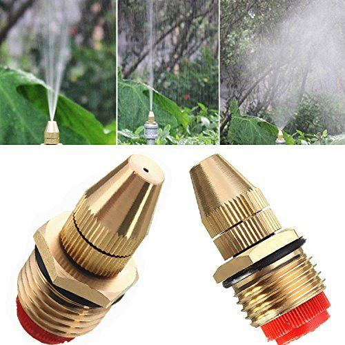 12 Inch Brass Adjustable Sprinkler Garden Lawn Atomizing Water Spray Nozzle Check This Awesome Product By Going To Th Water Spray Sprinkler Misting Nozzles