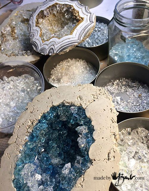 Diy Giant Concrete Geode Made By Barb Simple Step By Step