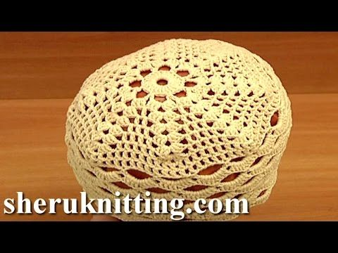 Crochet Summer/Spring Hat For Women Tutorial 10 Part 2 of 2 Crochet ...
