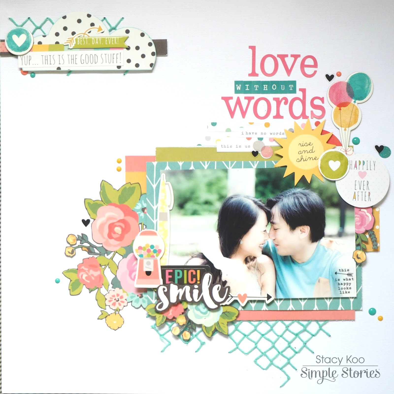 Scrapbook ideas without photos - Ss Dt Love Without Words