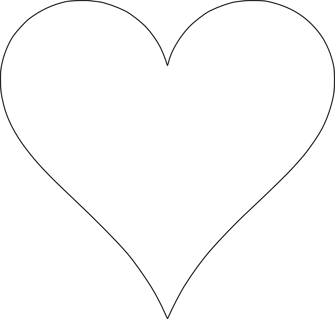 print out these 6 sweet and free heart templates