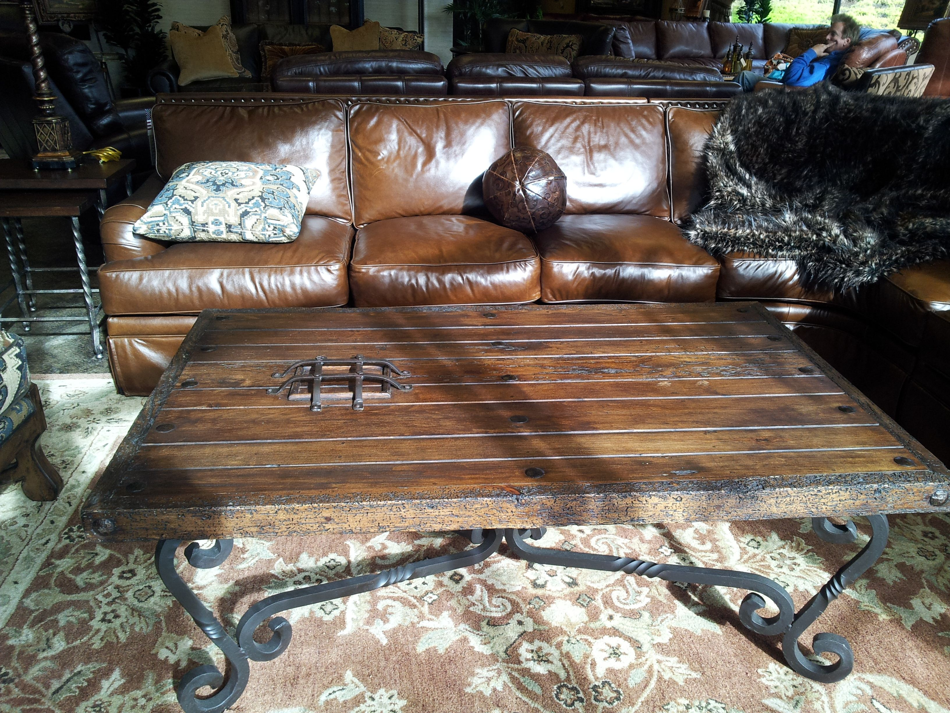 Arizona Leather Spanish style coffee table