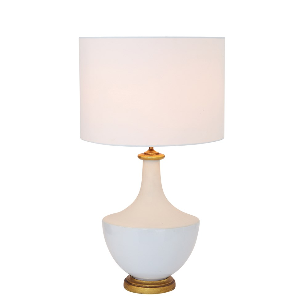 16 Round X 27 H Ceramic Table Lamp W Linen Shade Cream In 2020 Cream Table Lamps Table Lamp Linen Lamp Shades