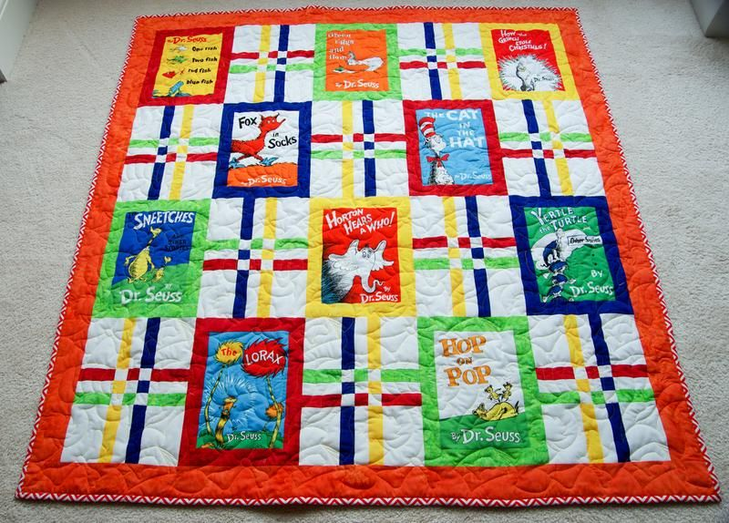 Celebrate Seuss Crib Toddler Baby Quilt In 2020 With Images