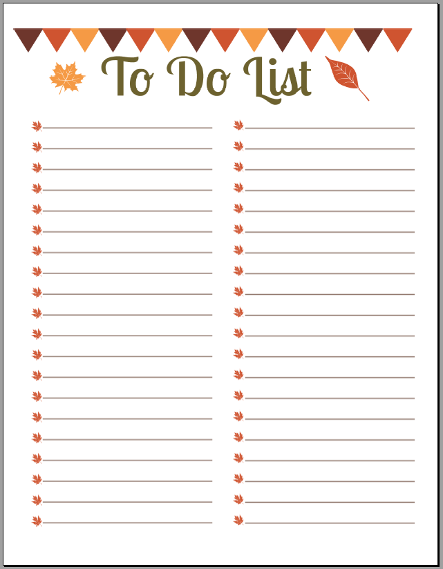 office to do list